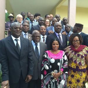 Les organisateurs du Forum à la rencontre des membres de l'ARDCI: Assemblée des Régions et Districts