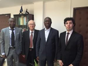 Avec le DirCab du District d'Abidjan