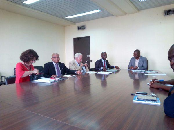 Au Ministère de l'Agriculture avec M. N'Guessan Koffi Rodrigue, Directeur de la Maîtrise de l'Eau et de la Modernisation des Exploitations