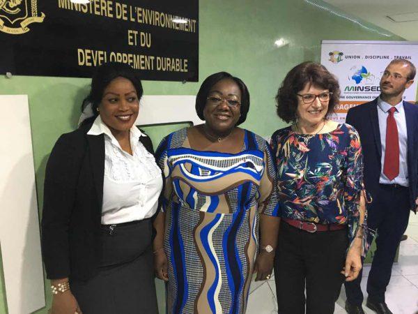 Audience accordée par Mme Ouloto, Ministre de la Salubrité, de l'Environnement et du Développement Durable, Marrzine du Forum Akomca